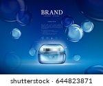 pink oil bubbles essence...   Shutterstock .eps vector #644823871