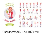 ready to use character set.... | Shutterstock .eps vector #644824741