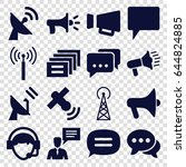 communicate icons set. set of... | Shutterstock .eps vector #644824885