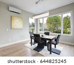 gorgeous black breakfast room... | Shutterstock . vector #644825245