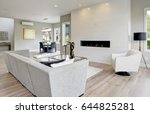 contemporary style living room... | Shutterstock . vector #644825281