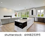 luxury kitchen accented with... | Shutterstock . vector #644825395