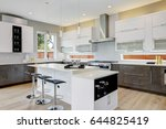 luxury kitchen with  natural... | Shutterstock . vector #644825419