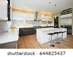 luxury kitchen with natural... | Shutterstock . vector #644825437