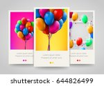 3d realistic colorful bunch of... | Shutterstock .eps vector #644826499