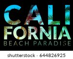 california background with palm.... | Shutterstock .eps vector #644826925