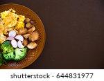 fresh omelette for breakfast... | Shutterstock . vector #644831977
