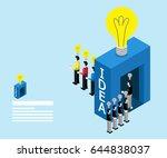 businessman walking in the idea ... | Shutterstock .eps vector #644838037