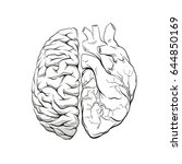 versus letters human brain...   Shutterstock .eps vector #644850169