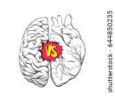 versus letters human brain... | Shutterstock .eps vector #644850235