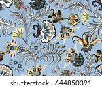 seamless contrasting pattern... | Shutterstock .eps vector #644850391