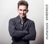 handsome young elegant man in... | Shutterstock . vector #644854015