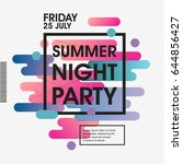 modern style abstraction summer ... | Shutterstock .eps vector #644856427