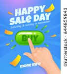happy sale day for mobile app... | Shutterstock .eps vector #644859841