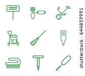 broom icons set. set of 9 broom ... | Shutterstock .eps vector #644859991