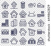 real estate icons set. set of... | Shutterstock .eps vector #644862829