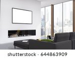 corner of a living room with a... | Shutterstock . vector #644863909