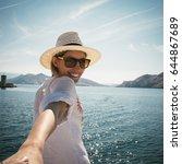 follow me | Shutterstock . vector #644867689
