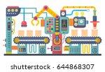 flat color industrial... | Shutterstock .eps vector #644868307