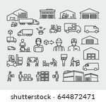 warehouse logistics buildings ... | Shutterstock .eps vector #644872471