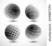 halftone spheres. halftone...   Shutterstock .eps vector #644887294