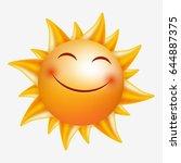 smiling sun. vector image... | Shutterstock .eps vector #644887375