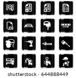 job search vector icons for... | Shutterstock .eps vector #644888449