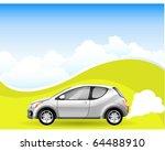 alternative energy car on the... | Shutterstock .eps vector #64488910