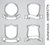 vintage heraldic elements | Shutterstock .eps vector #644893774