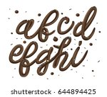3d decorative font from dark... | Shutterstock .eps vector #644894425