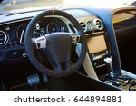 luxury car interior | Shutterstock . vector #644894881