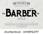 font. alphabet. script.... | Shutterstock .eps vector #644896297