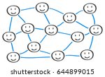 teamwork  communication ... | Shutterstock .eps vector #644899015