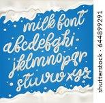 milk  yogurt or cream alphabet... | Shutterstock .eps vector #644899291