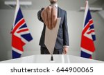 election or referendum in great ... | Shutterstock . vector #644900065
