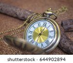 vintage pocket watch with rust... | Shutterstock . vector #644902894