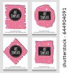 modern eclectic pink glitter...   Shutterstock .eps vector #644904091