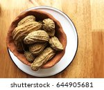 boiled peanuts in cray pot on... | Shutterstock . vector #644905681