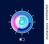 radar vector icon . flat style... | Shutterstock .eps vector #644906965