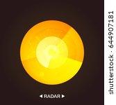 radar vector icon . flat style... | Shutterstock .eps vector #644907181