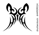 tattoo tribal vector design.... | Shutterstock .eps vector #644909014