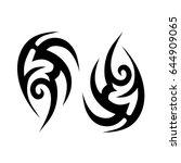 tribal tattoo art designs.... | Shutterstock .eps vector #644909065