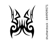 tribal tattoo art designs.... | Shutterstock .eps vector #644909071