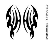 tribal tattoo art designs.... | Shutterstock .eps vector #644909119