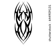 tribal tattoo art designs.... | Shutterstock .eps vector #644909131