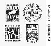 t shirt print design. set of... | Shutterstock .eps vector #644909401