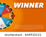 color lucky wheel template.... | Shutterstock .eps vector #644910121