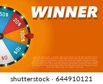 color lucky wheel template.... | Shutterstock .eps vector #644910121