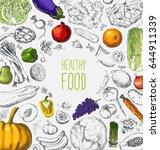 restaurant organic natural... | Shutterstock .eps vector #644911339