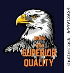 eagle tee graphic | Shutterstock .eps vector #644913634